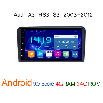 4G+64G car radio for Audi A3 RS3 S3 2003 2012 android multimedia autoradio GPS navigator coche audio carplay auto player stereo image