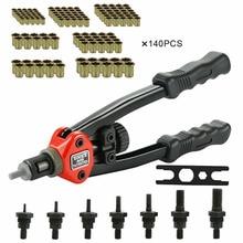 M3 - M12 Nuts Riveting Tool Set Hand Blind Riveter Hand Riveter Rivet Gun Manual Mandrels Threaded Rivet Machine