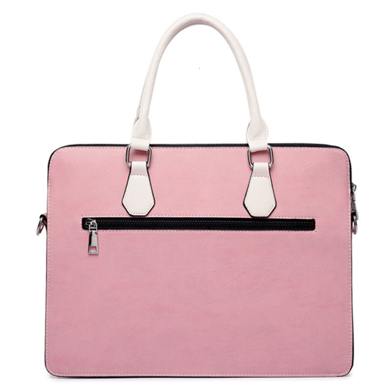 Men Briefcase Women Nylon Laptop Bag Pink Black Gray Fashion Casual Shoulder Handbags Messenger Bags