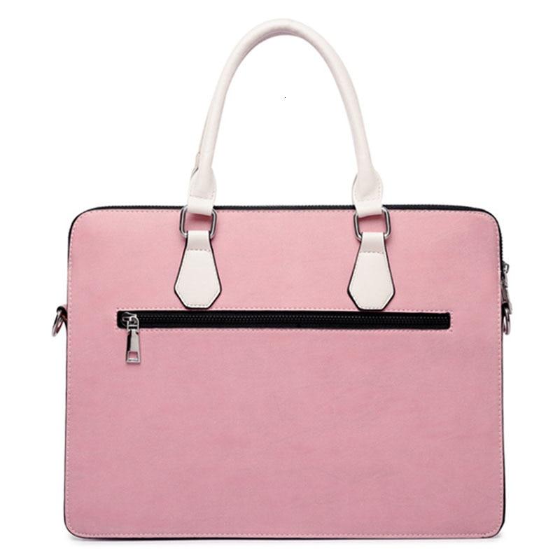 Men Briefcase Women Nylon Laptop Bag Pink Black Gray Fashion Casual Shoulder Handbags Messenger Bags