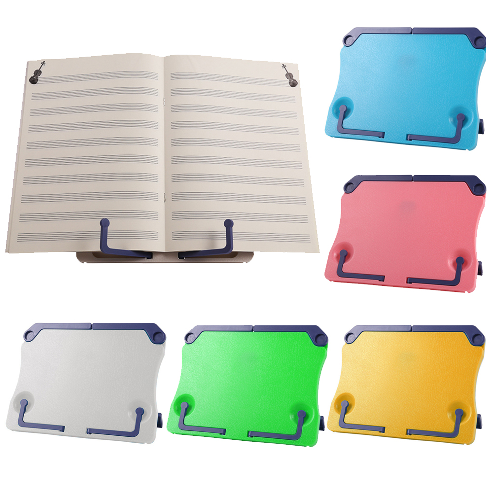 Portable Folding Tabletop Music Rack Adjustable Book Piano Music Score Reading Sheet Stand Holder Support Bookend Bookstand