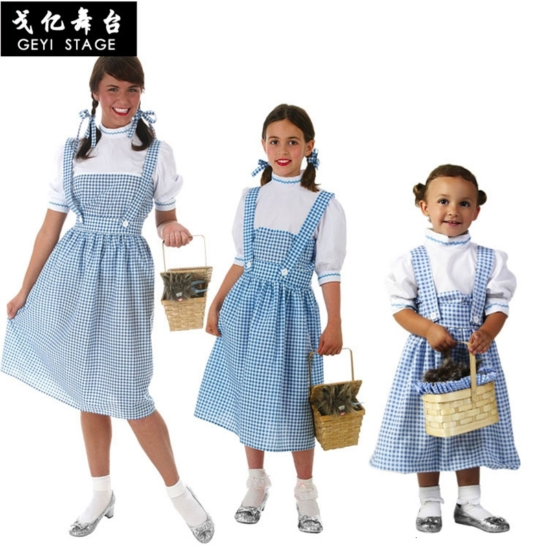 Halloween The Wizard Of Oz Woman Dorothy Gale Dressed In Blue Dg Girl Dress Dress With Drama Hair Bands Dorothy Dressed As Party