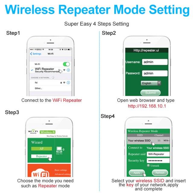 Ripetitore Wifi Wireless Range Extender Router amplificatore di segnale Wi-Fi 300Mbps Wifi Booster 2.4G Wi Fi Ultraboost punto di accesso 5