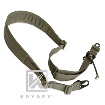 KRYDEX Modular Rifle Sling Strap Removable Tactical 2 Point / 1 Point 2.25 1