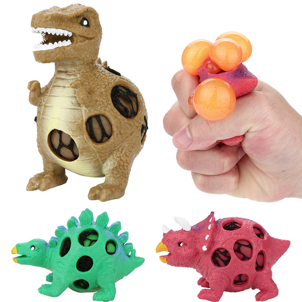Dinosaur Model Grape Venting Balls Squeeze Pressure Stress Ball Stress Relief Toy Toys For Children Squishy Toys Juguetes