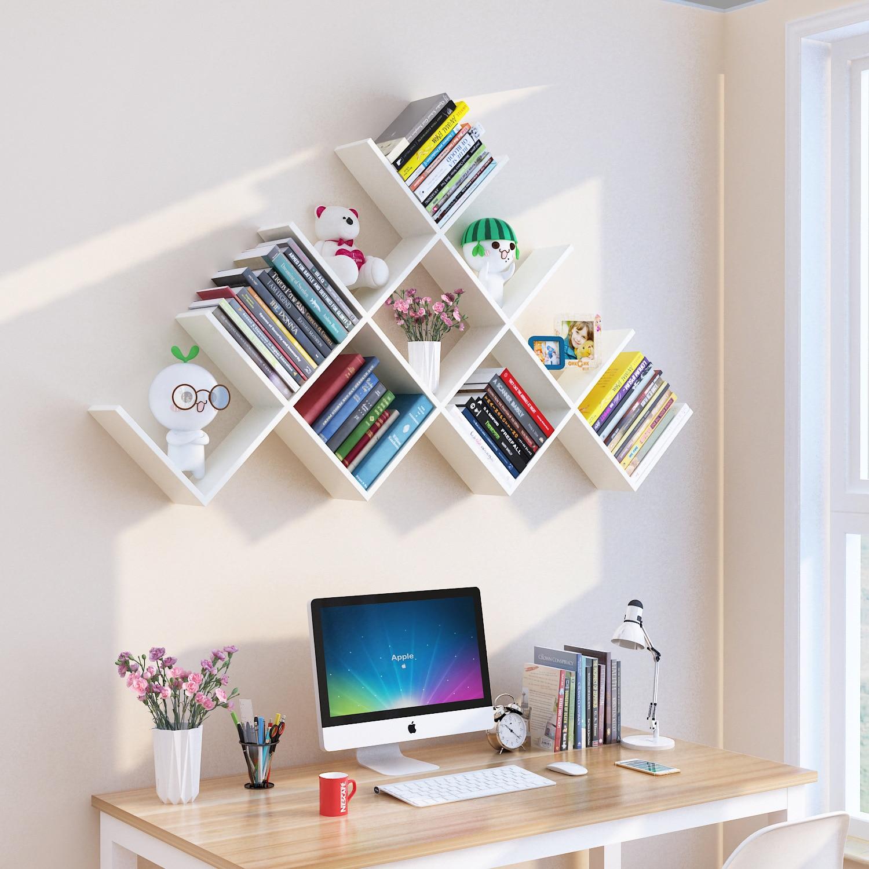 6PCS Hout DIY muur planken creatieve huishoudelijke planken voor wall opslag woondecoratie accessoires houten muur organizer