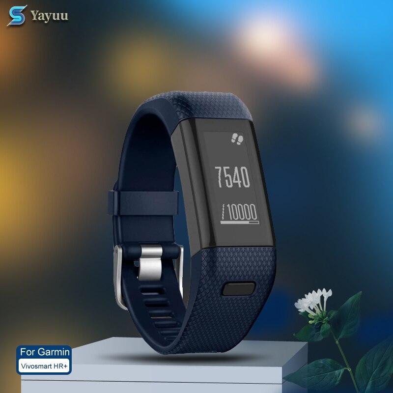 YAYUU Wrist Strap For Garmin Vivosmart HR Plus HR+ Watchband With Metal Buckle Silicone Watch Band Strap Bracelet Wristband