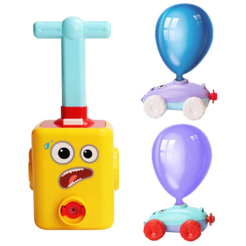 Интересный детский аэродинамический воздушный шар, игрушечный автомобиль, инерционный динамический научный эксперимент, обучающая игрушк...