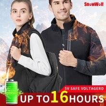 Snowwolf hommes gilet chauffant femmes hiver gilet chauffant USB infrarouge batterie chauffage gilet thermique extérieur veste manteau