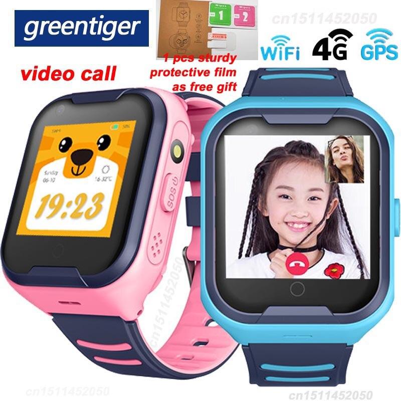 Greentiger 4G Network A36E Wifi GPS SOS Smart Watch Kids Video  call IP67 waterproof Alarm Clock Camera Baby Watch VS Q50 Q90Smart  Watches