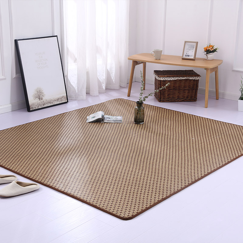 Japonais rotin tatami tapis été cool zone tapis enfants jouer tapis de sol salon enfants chambre salon grands tapis personnalisés