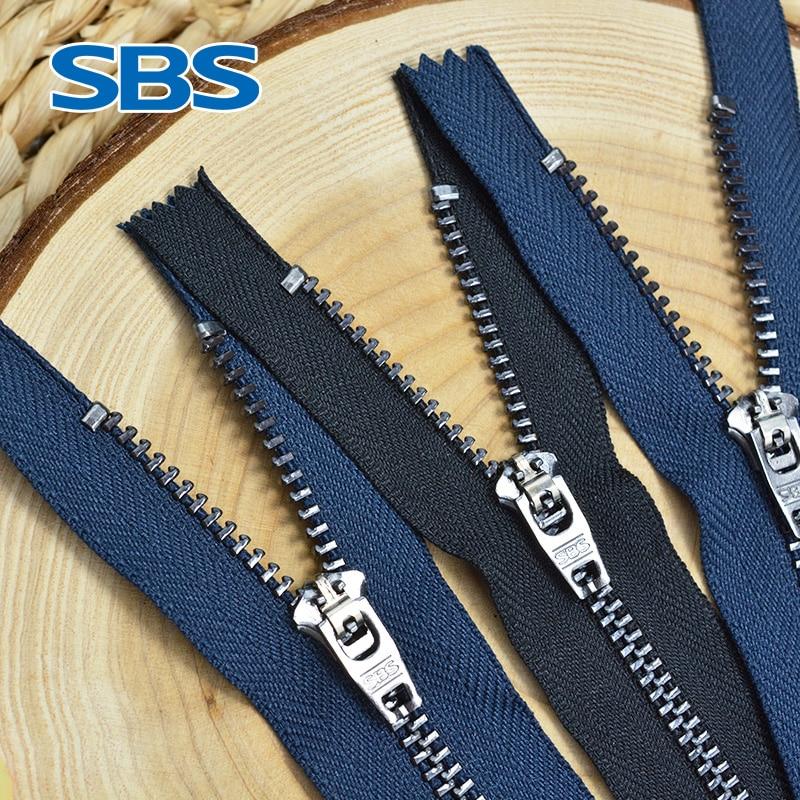 SBS молния № 4 черная металлическая Джинсовая молния темно-синяя черная цепочка для брюк подтягивающаяся ветровка аксессуары на молнии