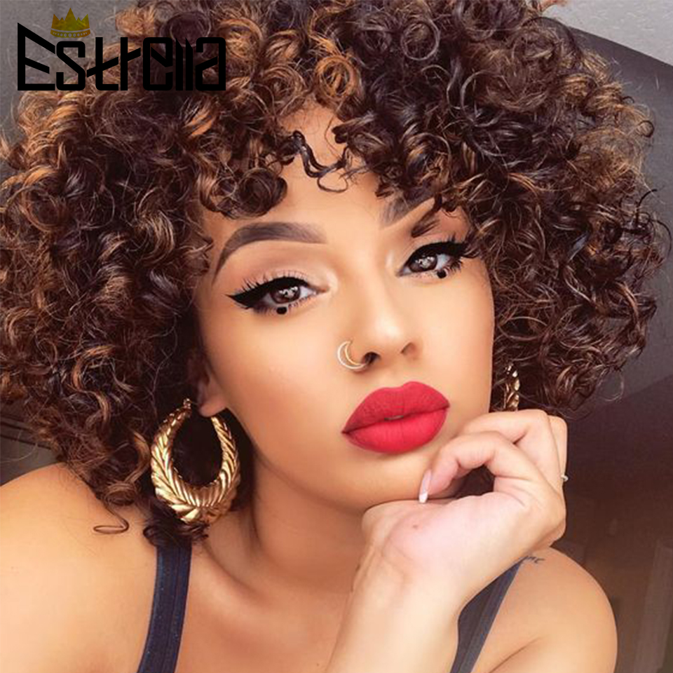 Pixie Cut Wig Human Hair Short Wig Brazilian Human Hair Wigs Non-remy Jerry Curly 100% Human Hair Natural Black Fast Shipping