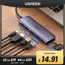 Ugreen USB C רכזת סוג C כדי רב USB 3.0 רכזת HDMI מתאם Dock עבור MacBook Pro Huawei Mate 30 USB C 3.1 ספליטר יציאת סוג C HUB