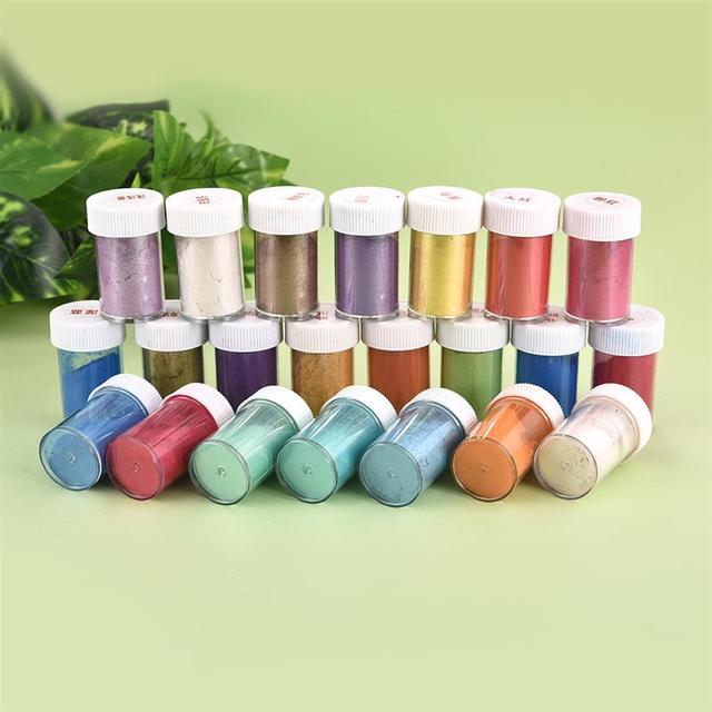 10g Pigment Filler For Resin Jewelry Making 24 Color Pearl Powder Dye Pearl Resin UV Epoxy Nail Paint Pigment