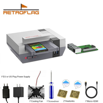 RETROFLAG Raspberry Pi 4 Case NESPi CASE with SSD CASE, Cooling Fan, USB-C Power Supply & Heatsinks for Model B - discount item  5% OFF Games & Accessories