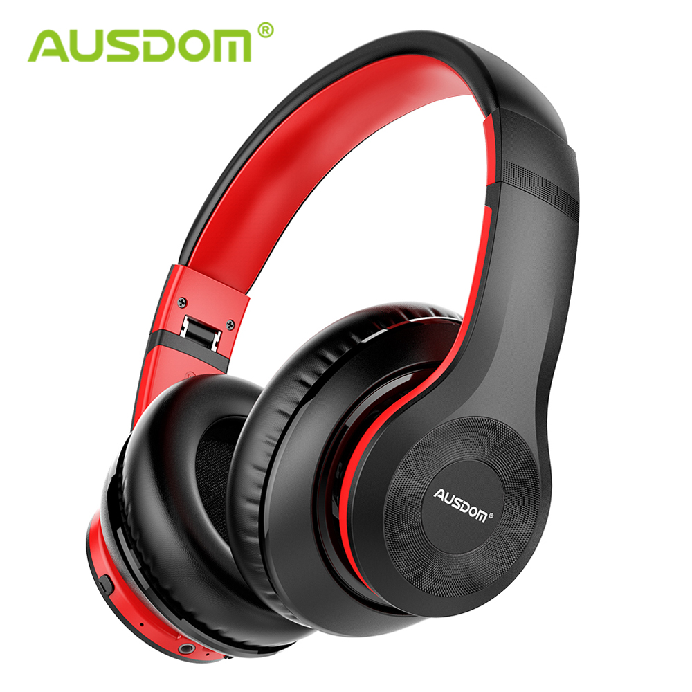 AUSDOM ANC10 Newest Active Noise Cancelling Bluetooth Headphones HiFi Deep Bass Foldable With Mic ANC Wireless Headset For Music