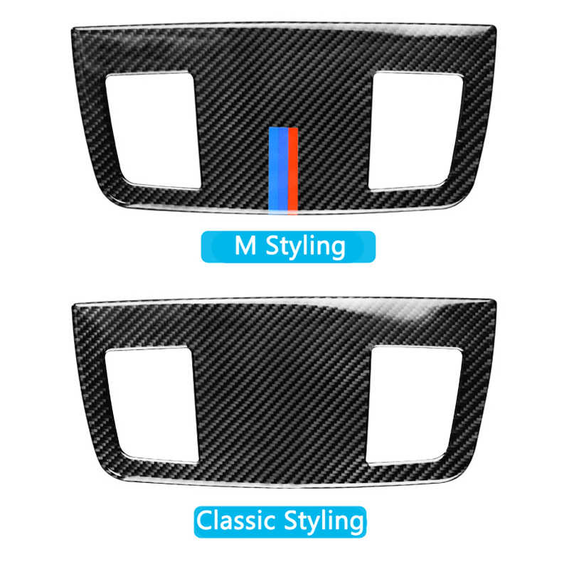 Pour BMW E90 E92 E93 3 Series 2005-2012 accessoires voiture intérieur en Fiber de carbone tableau de bord climatisation sortie évent couverture garniture