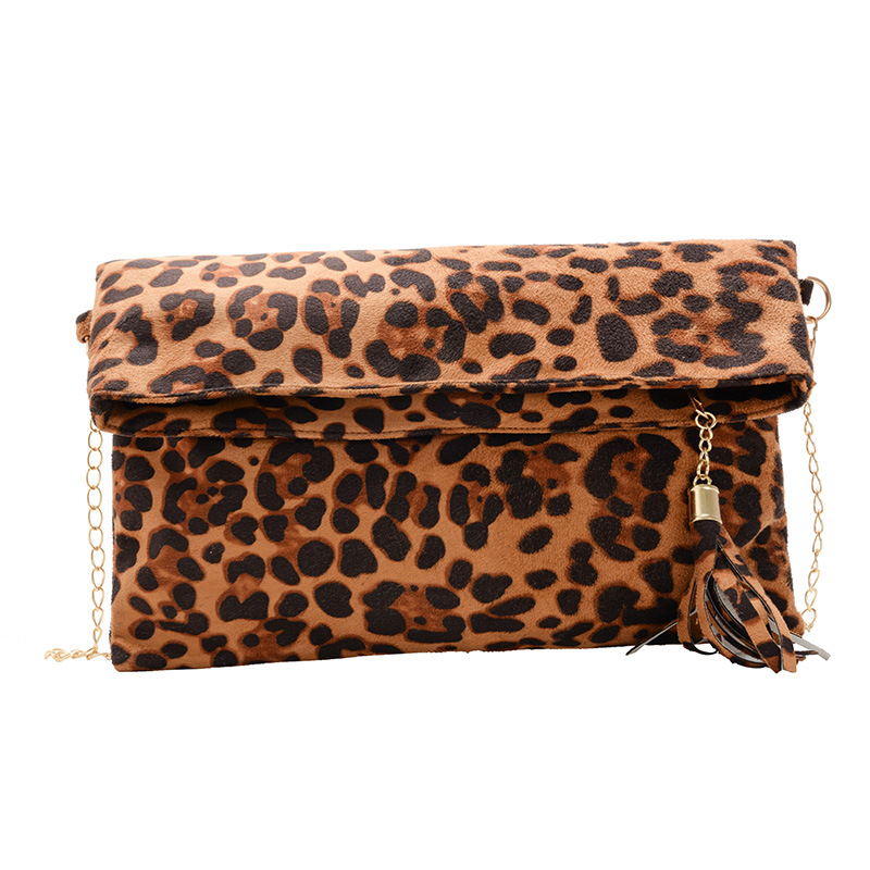 Fashion Leopard Handbag Women's Clutch Bag