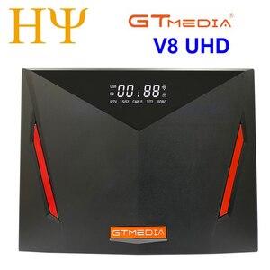 Image 1 - Gtmedia V8 UHD DVB S2 استقبال الأقمار الصناعية بنيت واي فاي دعم H.265 DDVB S/S2/S2X + T/T2/كابل/ATSC C/ISDBT أفضل V8X V8 Pro2