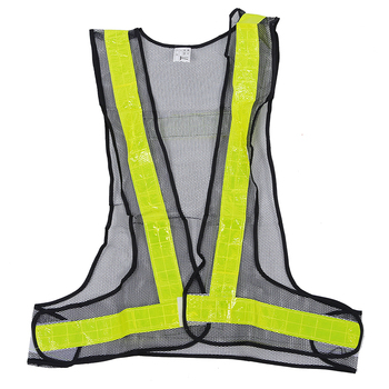 Hi-Viz Reflective Vest High Visibility Warning Traffic Construction Safety Gear Black Yellow