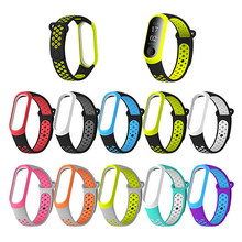 Voor Xiaomi Mi Band 4 3 Siliconen Roze Vervanging Polsband Armband Horlogeband Voor Xiomi Mi Band3 Miband 4 3 Band4 polsband(China)
