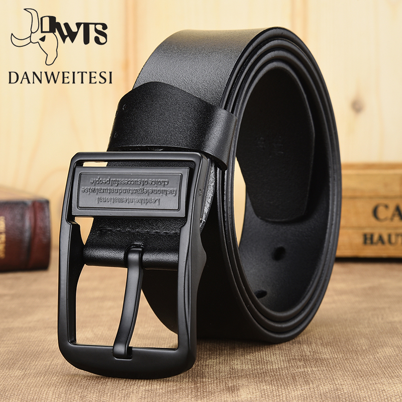 [DWTS]leather Belt Men Belt Male Genuine Leather Strap Luxury Pin Buckle Belts For Men Cummerbunds Ceinture Homme