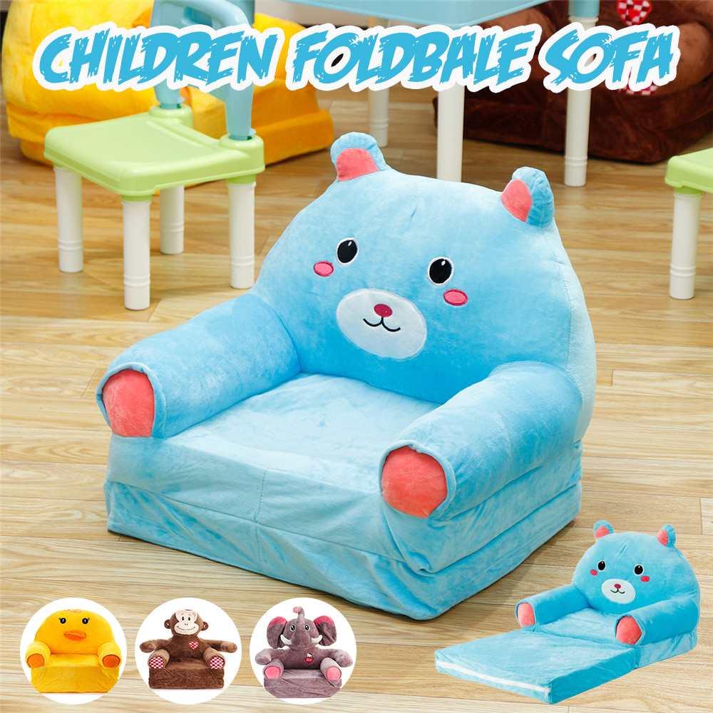 Animal Children Foldbale Sofa Baby Tatami Sofa Plush Kids Toy Cartoon Sofa Seat Gifts For Girls Birthday Gift Lounger Bed Sofa