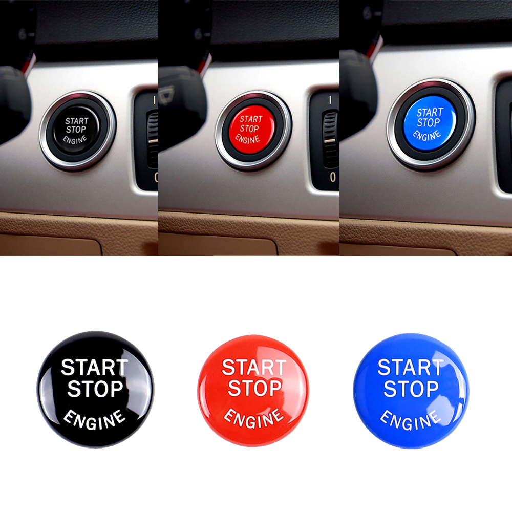 Car Styling Start Stop <font><b>Engine</b></font> Button Switch <font><b>Cover</b></font> Car Accessories For <font><b>BMW</b></font> <font><b>E90</b></font> E91 E60 E84 E83 E71 E72 image