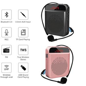 Microphone Bluetooth Loudspeaker Portable Wireless Voice Amplifier Megaphone Speaker USB Charging For Teaching Sales Tour Guide