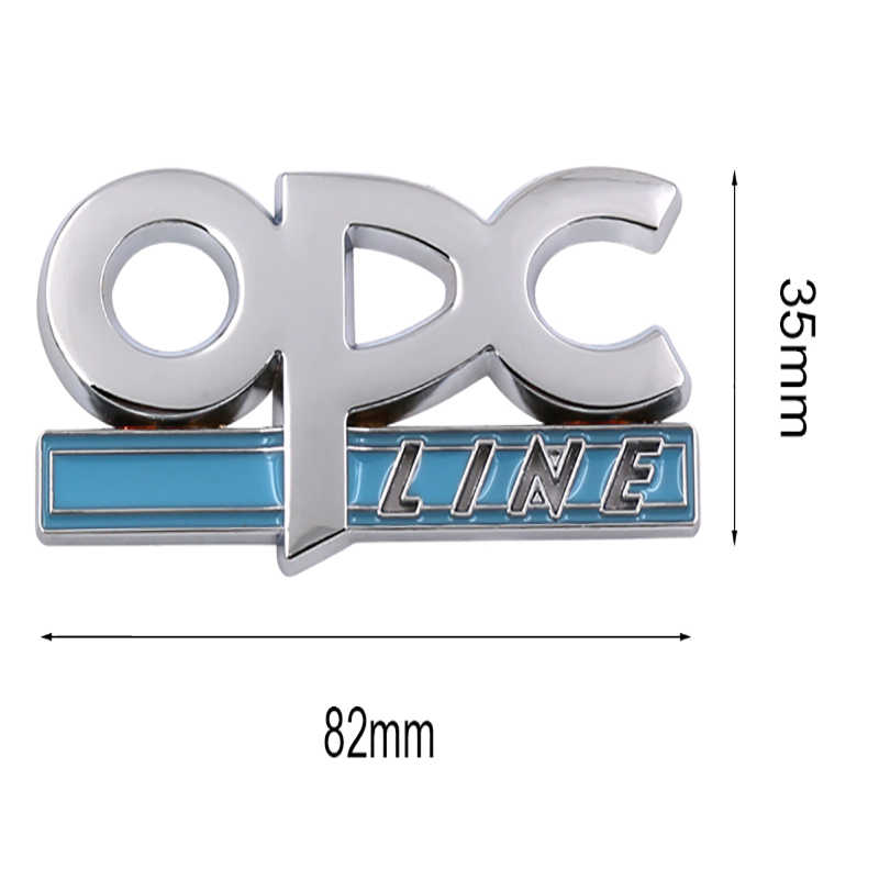 1 pièces 3D métal OPC ligne emblème voiture côté garde-boue queue Badge avant Grille autocollant pour OPEL voiture-style métal voiture décoration