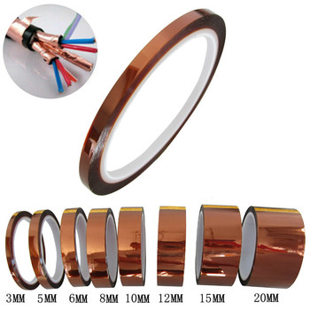 1 Roll 30 Meters Single Side Conductive Copper Foil Tape Strip Adhesive EMI Shielding Heat Resist Tape High Temperature Tape 25mm 20m single side adhesive silver conductive fabric cloth tape for pc phone lcd cable emi shielding keyboard repair
