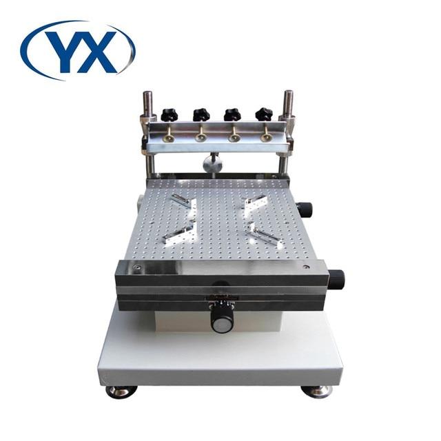 سطح جبل الالكترونيات YX3040 سطح المكتب التلقائي طباعة الشاشة الحريرية مخصصة لآلة تجميعة PCB