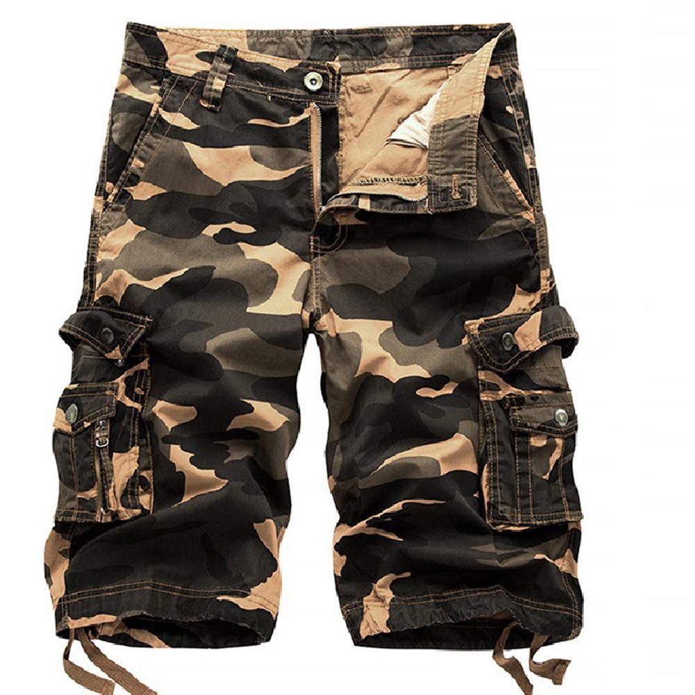 Summer Casual Outdoor Men Camouflage Cargo Shorts Baggy Fifth Pants Trousers Cotton Men Short Pants Comfortable Men Cargo Shorts