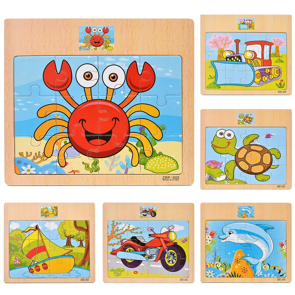 Wooden Vehicle Car Animal Jigsaw Puzzles DIY Assembly Early Learning Kids Toy Promotes  Fine Motor Skills Problem-solving Skills