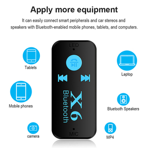 Image 5 - X6 3.5MM Aux Jack Bluetooth 4.1Receiver Support TF Card A2DP Audio Stereo Bluetooth Adapter  Wireless Hands Free Music Receiver