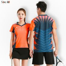 HOWE AO Badminton Print Female T Shirts Top Tees Crew Neck Short Sleeve Summer Spring Slim Women and men T-shirts T Shirt(China)