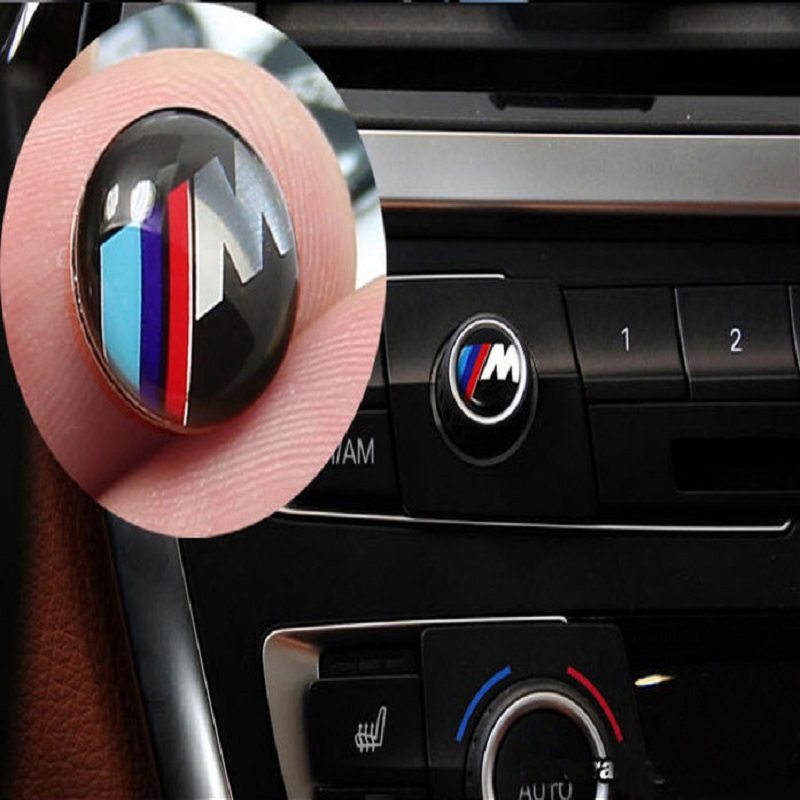 High Quality Car Audio Stereo Knob Sticker Car Modification For BMW X3 X4 X5 X6 E46 E39 E60 E90 E71 E36 Suv Stickers Accessories