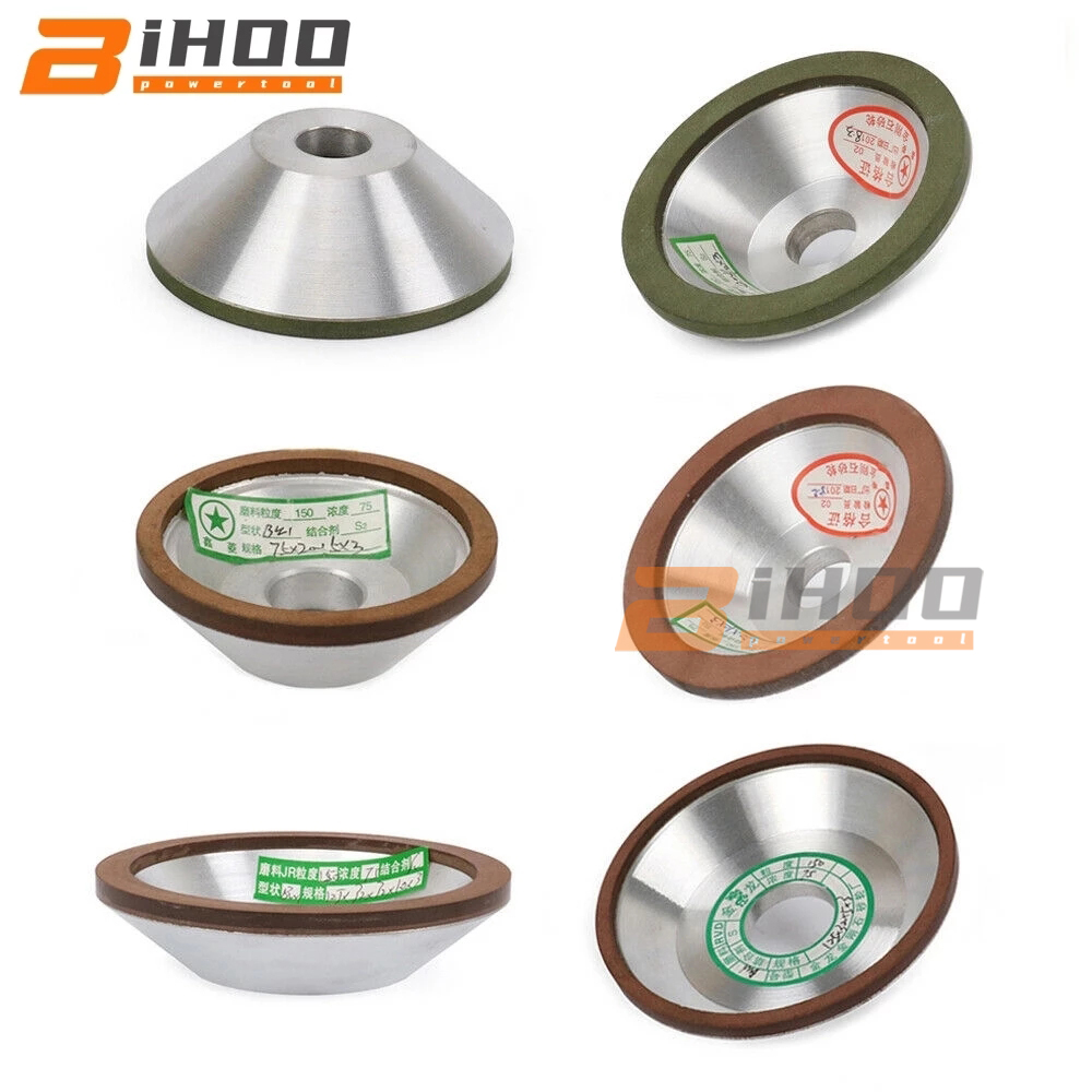 75/100/125/150/200mm Diamond Grinding Wheel Cup Grinding Wheel Grinding Circle Use For Tungsten Steel Milling Cutter Tool