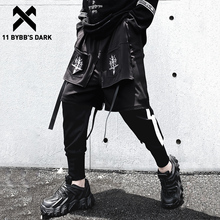11 BYBB'S DARK Tactical Fake Two Cargo Pant Man 2020 Harajuku Embroidery Joggers Men Trousers Streetwear Hip Hop Function Pants