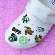 Tamancos sapatos encantos preto vidas matter acessórios sapatos decorações preto meninas pulseira ovc 2d 479 cânhamo pulseiras