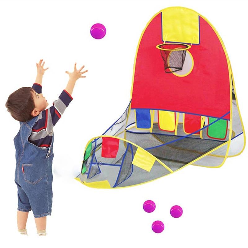 Мяч палатка игровой дом баскетбольная корзина палатка океан мяч бассейн открытый в помещении Спорт Детские игрушки Пляж Газон Игровая
