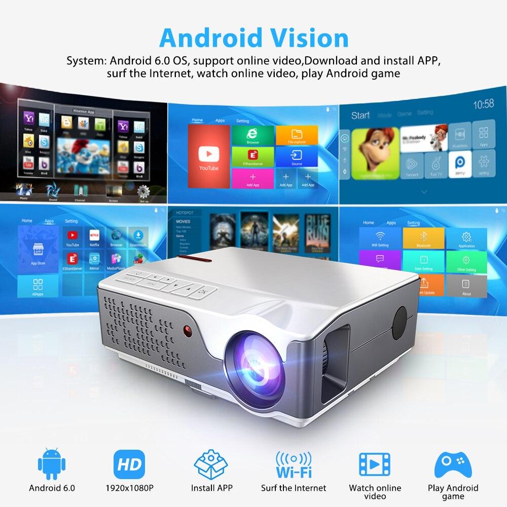 Thundeal TD96 1080P Mini portatil projector full hd com 7000 lumens 3d android video led projetores de home beamer cinema em casa  wifi proyector smartphone para epelhamento celular  sincronização   Oferta-1