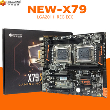 Huananzhi HUANANZHI X79 כפולה מעבד LGA2011 LGA 2011 האם עם מעבד כפול DDR3Suitable עבור שרת מעבד שרת זיכרון