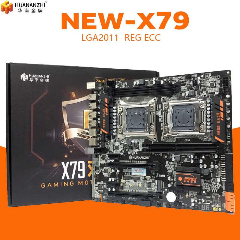Huananzhi HUANANZHI X79 المزدوج وحدة المعالجة المركزية LGA2011 LGA 2011 اللوحة الأم مع معالج ثنائي DDR3Suitable لخادم وحدة المعالجة المركزية و خادم الذاكرة