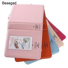 Besegad 64 جيوب ألبوم صور صغير كتاب ل فوجي Fujiflm Instax Mini 7s 8 8 9 25 26 50s بولارويد PIC 300 Z2300 التقط لمس