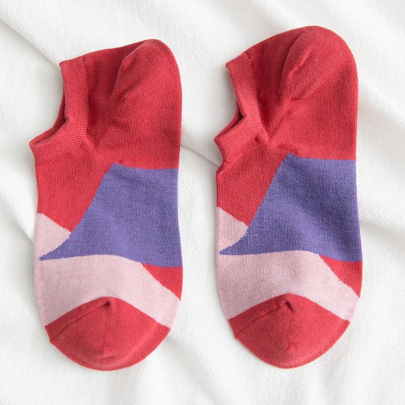 1 пара, мужские хлопковые короткие носки для мужчин, деловые повседневные однотонные короткие мужские носки, носки-тапочки европейские размеры 39-44, Meias - Цвет: Red
