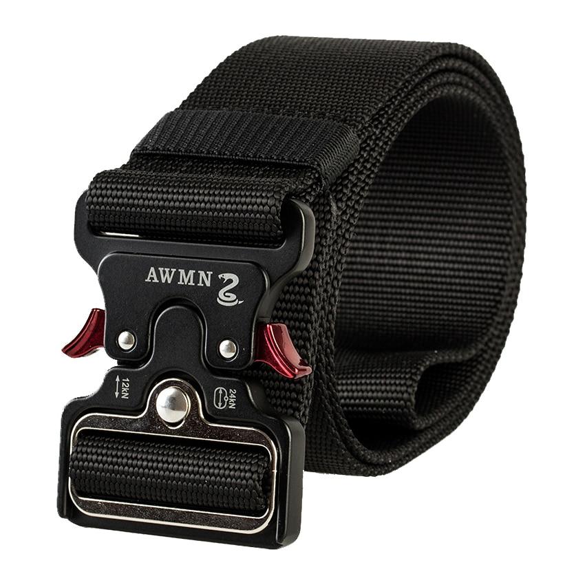 Military Style Adjustable Nylon-Web-Belt Quick Release Metal Buckle Mens Multifunction Tactical-Belt Heavy Duty Webbing Belt