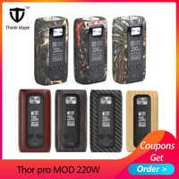 Original que Vape Thor MOD pro 220w Dual 18650 cigarrillo electrónico mod VW/TC/Bypass pantalla TFT del Vape Thor caja mod