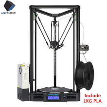 ANYCUBIC Kossel 3D Printer Pulley Linear Assembled with Auto Leveling Large 3D Printing Impressora 3d kit printer